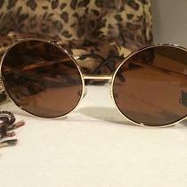 Super Large Round Metal Sunglasses Retro Photo