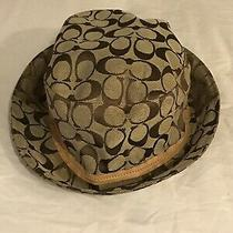 Super Rare Vintage Coach Betmar Bucket Hat P/s Tan and Brown Photo