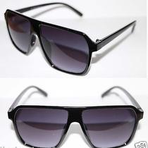 Super Retro Future Cazal Style Design Sunglasses Black Frame Retro Vintage 435 Photo