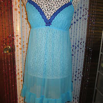 Super Sexy N Sheer  Casabella Nightie  Teal Size Lg Photo