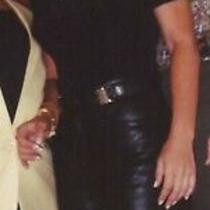 Super Sexy Versace Leather Pants Size 4 Photo