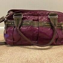 Super Soft Leather Chloe Crossbody Handbag - Purple With Duotone Zipper Photo