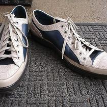 Super Stylish High End Aldo Brue 2 Tone Leather Sneaker--Made in Italy--Size 9 Photo
