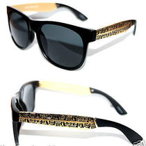Super Wayfarer Sunglasses Future Matte Black Gold Frame Hieroglyphics Francis  Photo