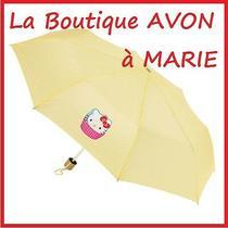 Superb Umbrella Hello Kitty Cupecake Yellow Spotted White Avon New Photo