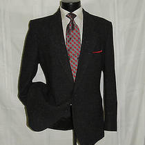 Superb Vintage 80's Black Tweed 2 Button Yves Saint Laurent Ysl Jacket Coat 42 R Photo