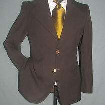 Superb Vintage Two Buttons Yves Saint Laurent Ysl Men Brown Jacket 36 Short  Photo
