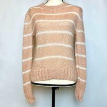 Superdry Blush Pink Stripe Nordic Sweater. Size Xs Photo