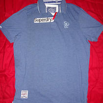 Superdry Heather Blue Mens Short Sleeve Xxl ( Extra Extra Large ) Polo Shirt  Photo