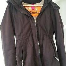 Superdry Ladies the Windparker Brown Parker Style Coat M Photo
