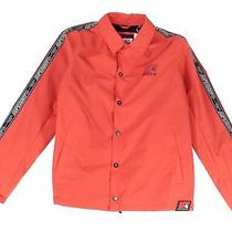 Superdry Mens Jacket Orange Size Large L Cadence Coach Button Snap 109 109 Photo
