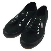 Superga 2750- 40 (25.0cm) Size 40 Black Low Cut Sneaker 271 From Japan Photo