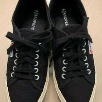 Superga Black Canvas Lo Cut Sneakers Mens or Womens Size W91/2  Eu 41 M8 Clean Photo