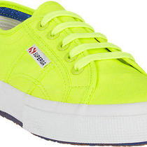 Superga Canvas Low-Top Sneakers in Neon Yellow Size Eu 37.5 Photo