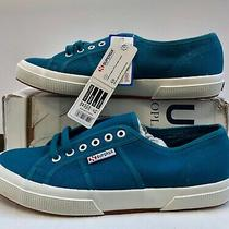 Superga Cotu-2750 Ottanio Blue Canvas Sneakers Womens Sz 11/eur44 Photo