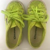 Superga Girls Toddler Lace Sneakers Neon Yellow Eur 24 Us 8 Photo