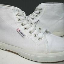Superga S003j40 Cotu White Premium Canvas Comfort Unisex Hi Sneakers M7 w8.5 Photo