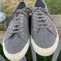 Superga Sneakers Gray Eu39/ Womens 8 Gray Wool Blend Lace Up Athletic Low Top  Photo