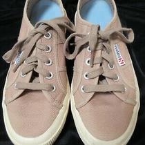 Superga Women's Classic Canvas Sneakers Beige Size 6.5-7 Eu 37.5 Excellent Photo