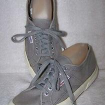 Superga Womens Gray Sage Canvas Lace Up Shoes Sneakers Size 9.5 / 41 Photo