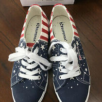 Superga Women's Stars & Stripes Sneaker Size 7 - 1/2 7.5   Photo