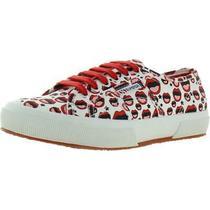 Superga Womens 2750 White Printed Sneakers Shoes 6.5 Medium (Bm) Bhfo 9119 Photo