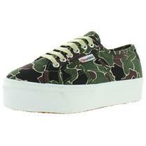 Superga Womens 2790 Green Canvas Sneakers Shoes 6.5 Medium (Bm) Bhfo 8553 Photo