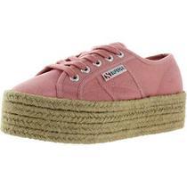 Superga Womens 2790 Pink Canvas Platform Sneakers Shoes 6 Medium (Bm) Bhfo 8614 Photo
