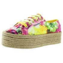 Superga Womens 2790 Yellow Platform Sneakers Shoes 7.5 Medium (Bm) Bhfo 5260 Photo