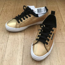 Superga X Jocelyn 2750 Gold Sneakers With Black Fur Trim Size 38 Nwt Photo