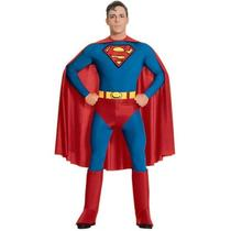 Superman Adult Mens Halloween Costume Small Fancy Deluxe Superhero Photo