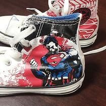 Superman Converse High Tops Size 1 Photo