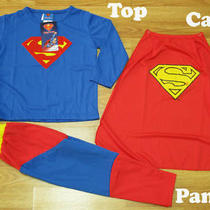 Superman Fancy T-Shirt  Pants  Cape Sz S Age 3-4 Photo
