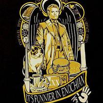 Supernatural Castie Funnier in Enochian Angel  Xl T Shirt Wb Fantasy Horror Tv Photo