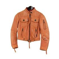 Superprice 20 Off or Higher Dsquared Dsquared2 Jacket Leather Orange Brown Photo