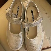 Supraga Silver Mary Janes Sneakers Us Size 2.5 or Euro 34 Photo