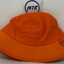 Supreme Barbour Waxed Cotton Orange Crusher Bucket Hat Sz M Box Logo  Photo