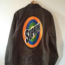 Supreme Spins Coach Jacket Brown Size Large Ds With Stickers Photo