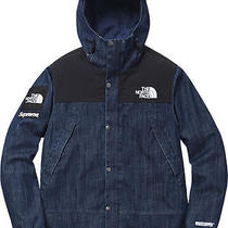 Supreme the North Face 2015 Denim Dot Shot Jacket Medium Photo