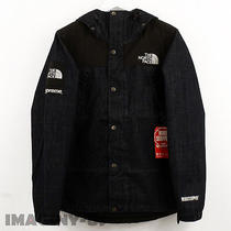 Supreme/the North Face Denim Dot Shot Jacket Ss15 Indigo Small Photo