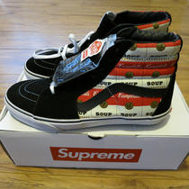 Supreme X Campbells Soup Vans Sk8 Hi Pro Box Logo Size 10 2012 Cdg Skateboarding Photo