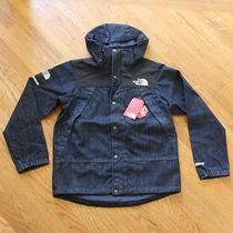 Supreme X the North Face Denim Dot Shot Windstopper Jacket M Tnf Box Logo New Photo