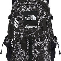 Supreme X the North Face Hot Shot Backpack Book Bag 2012 Black Nyc Leopard Nwt Photo