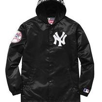 Supreme Yankees Coaches Jacket Black Size Large Photo