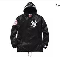 Supreme Yankees Coaches Jacket Black Size Large or X Large Photo