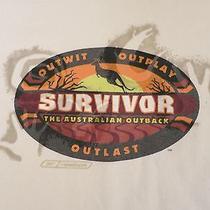 Survivor Australian Outback Tv Show Season 2 Jeff Probst Cbs T-Shirt Xl Reebok Photo