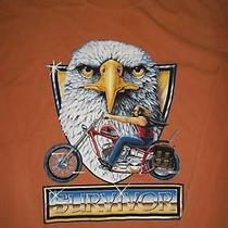 Survivor Motorcycle Eagle Long Sleeve Brown Shirt Photo