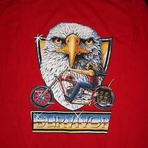 Survivor Motorcycle Eagle Long Sleeve Red Shirt Photo