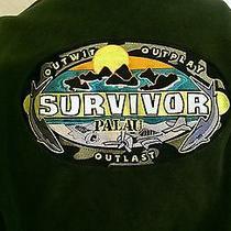 Survivor Palau Cbs Show Columbia Fleece Jacket Size Large Tv Reality Island Photo