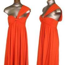Susana Monaco Dress Size Medium Orange Dress 154 Photo